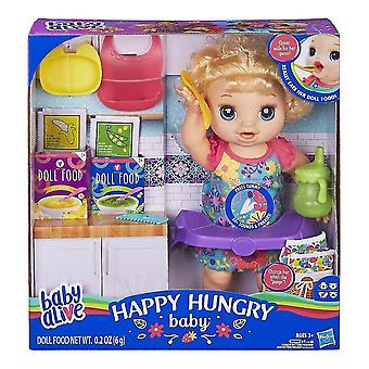 Bobblehead figures baby alive happy hungry baby blond curly hair doll