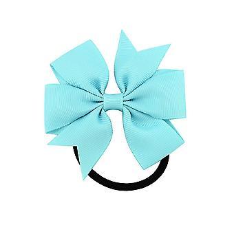 15PCS 3,15 tommer Girl Boutique Grosgrain Ribbon Bow Elastik Hår Tie Rope Hair Band buer med børn