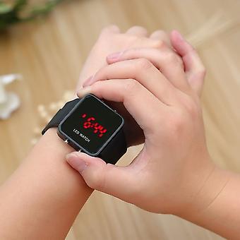 Multicolor Men Women Mirror Led Silicone Band Digital Sport Wrist Watch