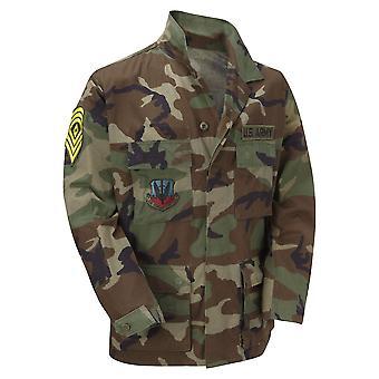 Original Vintage USA EDR militaire chemise Badges