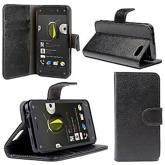 i-Blason-Amazon Fire Phone-Slim Leather Wallet Book Cover- Black