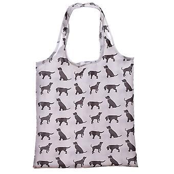 Puckator hunden silhuett sammenleggbar Bag