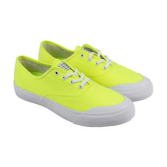 HUF Cromer  Mens Green Canvas Low Top Lace Up Athletic Skate Shoes