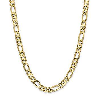 14 k giallo oro solido lucido aragosta artiglio chiusura 8,75 mm concavo aperto Figaro Link catena cavigliera - 9 pollici - moschettone