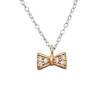 Bow - 925 Sterling Silver Jewelled Necklaces - W27843X