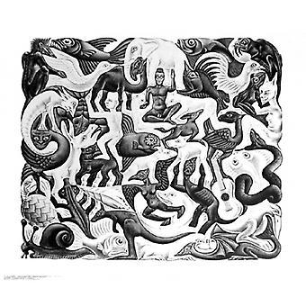 Mosaic II Poster Print by MC Escher (26 x 22)