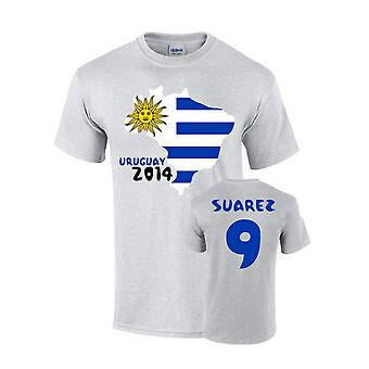 Uruguay 2014 Country Flag T-shirt (suarez 9)