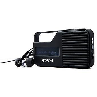 Groov-e Rio Pocket DAB/FM Radio (Model No. GVDR01BK)
