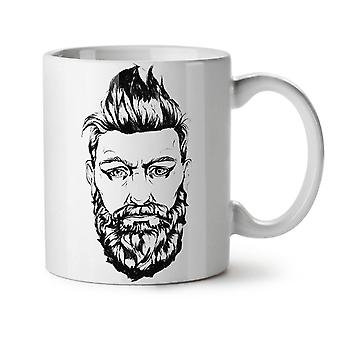 Beard Guy Stylish Fashion NEW White Tea Coffee Ceramic Mug 11 oz | Wellcoda