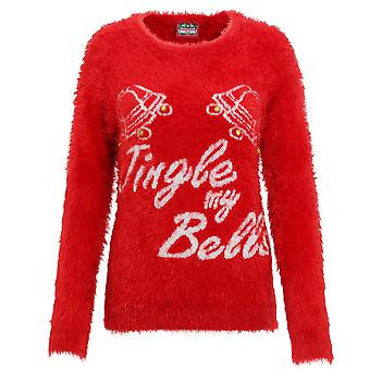 Christmas Shop Womens/Ladies 3D Jingle My Bells Fluffy Knitted Jumper