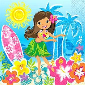 Hula-Beach Party Servietten