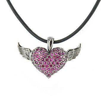 Heartbreaker by Drachenfels Ladies silver pendant necklace LD AT 53 RE-B