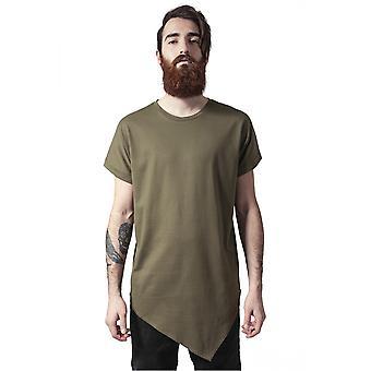 Urban classics T-Shirt asymetryczne długie herbata