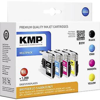 KMP atrament zastępuje Brother LC-1240 kompatybilny zestaw czarny, cyjan, Magenta, żółtym B37V 1524,0050