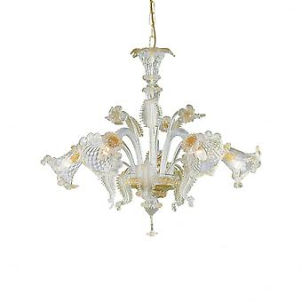 Ideale Lux Rialto 5 lamp hanger licht Ambra