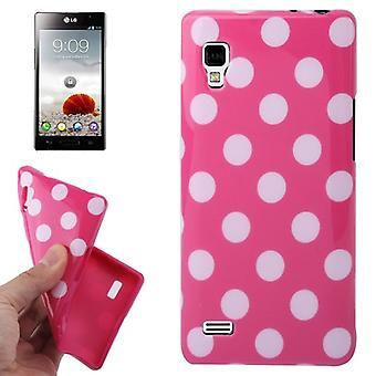 Suojaava tapauksessa TPU kohdan tapauksessa mobile LG Optimus L9 / P760 vaaleanpunainen