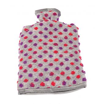 Hot water bottle cover wool studs silver 20/30 cm