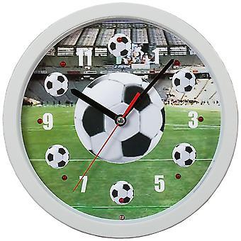 Atlanta 4482 væg ur kvarts analog hvide fodbold soccer Se vocal fan song