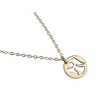 Collier Ange Ange gardien pendentif ange gardien collier plaqué or