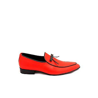 Handcrafted Premium Leather Archie Red Loafer Shoe