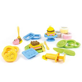 Green Toys 20 Piece Cake Maker Dough Set Doh Moulding Play Set BPA Free Eco