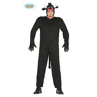 Costume de bull rage costume de carnaval thème partie de boeuf de costume animal Torro hommes noir