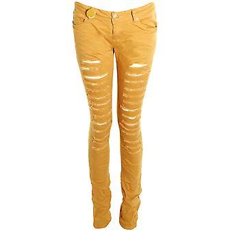 Mesdames coloré Denim Skinny Slim Effect Ripped de femmes Pantalons Jeans