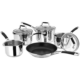 Stellar Induction, Draining, 5 Piece Saucepan Set