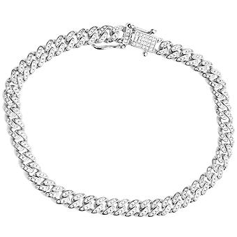 Premium Bling 925 sterling silver bracelet - MIAMI CURB 6.5mm