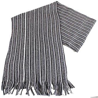 Bassin and Brown Cowdrey Striped Scarf - Grey/Black/White