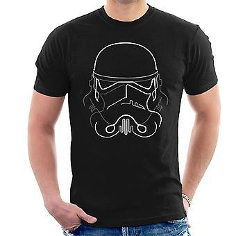 T-shirt original Stormtrooper linha arte silhueta masculina