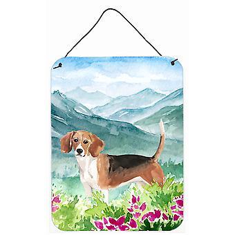 Mountian Flowers Beagle Wall or Door Hanging Prints