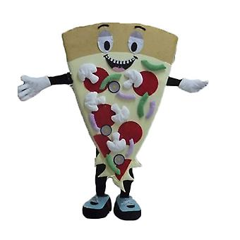 SPOTSOUND slice of pizza giant, smiling and colorful mascot