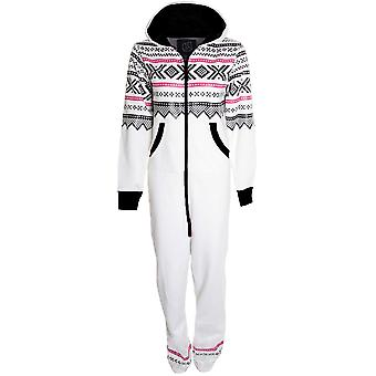 Ladies Aztec Print All In One Adult Hooded Jumpsuit Women's Playsuit Suit