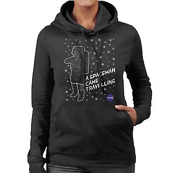NASA Weihnachten A Spaceman kam Reisen Frauen das Sweatshirt mit Kapuze