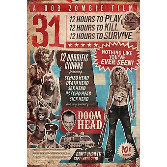 31 фильм плакат (11 x 17)