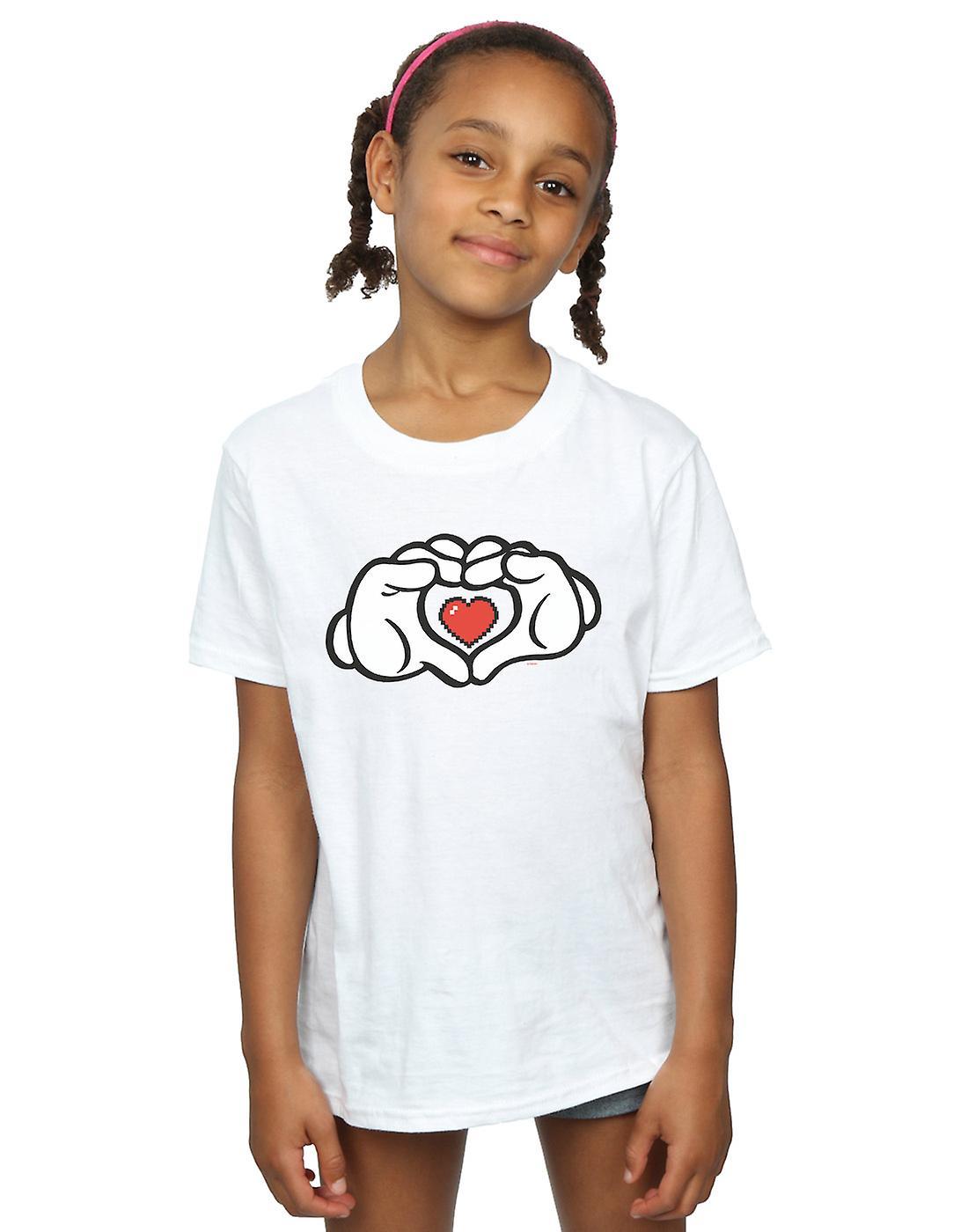 Disney Girls Mickey Mouse Heart Hands T-Shirt