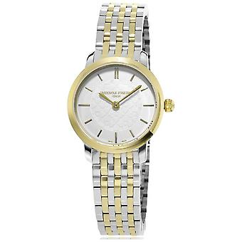 Frederique Constant | Womens | Two Tone Slimline | Metal | FC-200WHS3B Watch