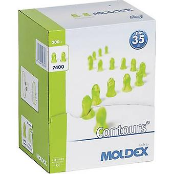 Moldex 740001 Contours Protective ear plugs 35 dB Disposable 200 Pair