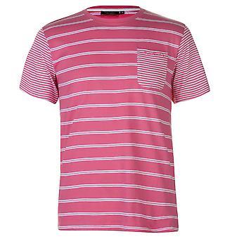 Pierre Cardin el bolsillo en el pecho Raglan Mens 2 raya T Camisa cuello redondo camiseta algodón superior