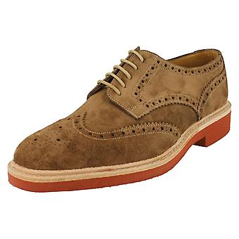 Mens Loake Casual Shoes Logan Brown Size UK 6F