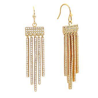 Bertha Sophia Collection Women's 18k YG Plated Bar Drop Fashion Earrings