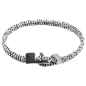 Anchor and Crew Brixham Noir Rope Bracelet - White/Black