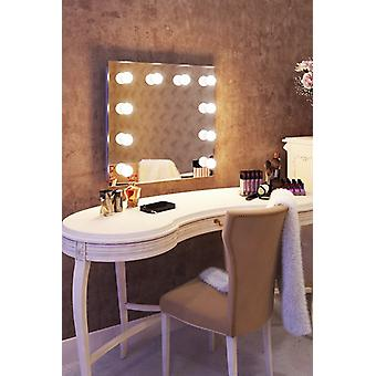 Diamond X Wallmount Hollywood Audio Mirror with Dimmable LED k89CWaud