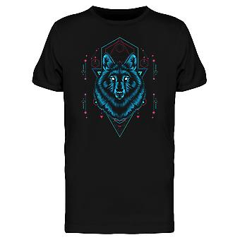 Geometry Wolf Animal Graphic Tee Men's -Image by Shutterstock
