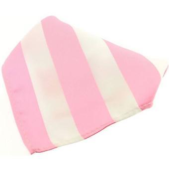 David Van Hagen a strisce poliestere fazzoletto - rosa/bianco