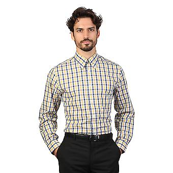 Brooks Brothers Mens Long Sleeve Checked Pattern Shirt