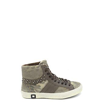 D.a.t.e. Ezbc177004 Women's Green Leather Hi Top Sneakers