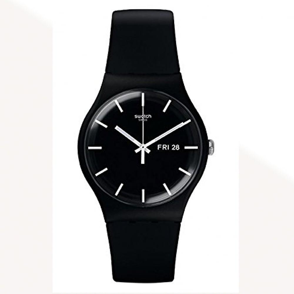 Swatch Suob720 Mono Black Silicone Watch