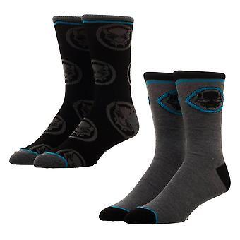 Wunderschwarze Panther Crew Socks Set (2 Paare)-ONE SIZE
